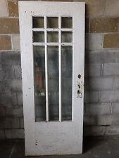 Antique Craftsman Style Entry Door - 1910 Nine Pane Fir Architectural Salvage