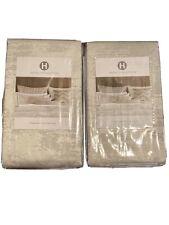 (2) Hotel Collection Interlattice Silver Standard Shams. MSRP $200.00