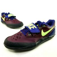 Nike Mens Zoom Rotational 6 Shot Put Discus Throwing Shoes Size 8 Track Purple