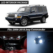 2006-2010 Jeep Commander White Interior LED Lights Package Kit