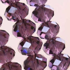 70  PCS , 6X8 mm Purple Faceted Crystal Gemstone Abacus Loose Beads