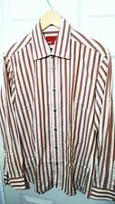 HUGO BOSS Brown/Nudie Stripy Slim Fit Shirt Size M *VGC*