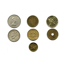 Set of 7 diff. Hong Kong and other Asia coins nice circ.-Au