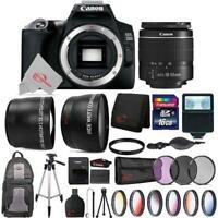 Canon EOS 250D / Rebel SL3 24.1MP 4K Digital SLR Camera + Top Accessory Bundle