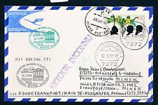78410) LH FF Frankfurt - Minsk Belarus 29.3.92, Karte FDC 1599