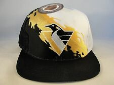 NHL Pittsburgh Penguins Vintage Snapback Hat Cap Logo 7