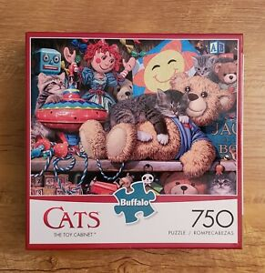 Buffalo Games - Cats - The Toy Cabinet - 750 Piece Jigsaw Puzzle Pre-Owned