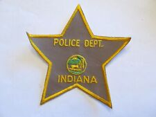 Indiana Police Stock Patch Old Cheese cloth
