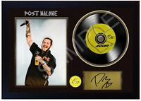 NEW! Post Malone b&B MUSIC  SIGNED FRAMED PHOTO LP Vinyl Perfect Gift