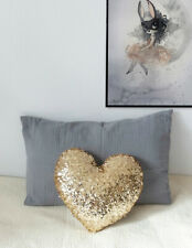 Heart Shaped Sequin Cushion