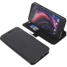 Tasche für HTC Desire 10 Pro Book-Style Schutz Hülle Handytasche Buch Schwarz