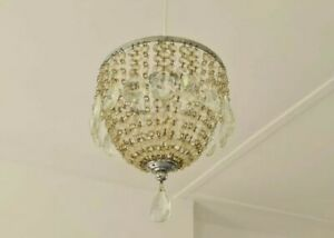 Vintage 1940's Small Crystal Chandelier