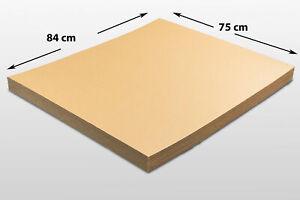 20x Kartonplatte 750 x 840 mm Palettenzwischenlage Wellpappe Zuschnitt Palette