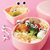 10x Cute Eye Mini Food Fruit Picks Baby Kid Forks Bento Lunch Box Tool Tableware