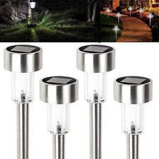 8PCS Solar Outdoor Stainless Steel Led Light Lawn Garden Landscape Path lamp
