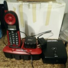 Craftsman 27413 900 MHz Single Line Cordless Phone Red used