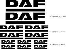 DAF truck vinyl decals, graphics, stickers x12 pieces any colour body work glass
