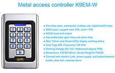 coded keypad RFID Keypad 12v, PTE, Alarm, 2000 codes Metal Vandal Proof