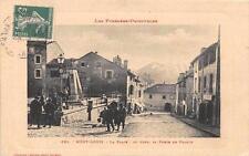 CPA 66 MONT LOUIS LA PLACE AU FOND PORTE DE FRANCE (Marie Louise