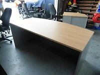 OFFICE 1800MM BOW FRONT DESK (NEW) BRISBANE
