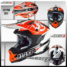 CASCO CROSS ENDURO MOTARD JUST1 J32 PRO RAVE BLACK ORANGE 2017 TAGLIA XL 61-62