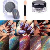 2g Holographic Laser Powder Nail Glitter Rainbow Pigment Manicure Chrome Pigment