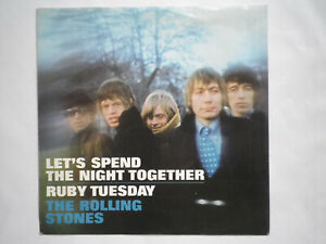 """7"""" THE ROLLING STONES - Let`s Spend The Night Together / Ruby Tuesday,F 12546"""