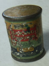 VINTAGE, POSSIBLY ANTIQUE? MINI BAKING POWDER TIN PENCIL SHARPENER,SILVERTOWN NY