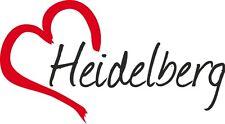 "Auto pegatinas ""Heidelberg"" ciudad sticker Alemania aprox. 9x16cm konturge."