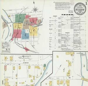 Belvidere, New Jersey~Sanborn Map©sheets with 25 maps~1903 TO 1915~on CD