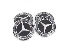 4 Stk. Rad Emblem Aufkleber Center Radkappen 56mm Für MERCEDES Benz Schwarz