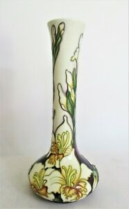 Moorcroft Pottery Vase in the Gladioli Design by Kerry Goodwin. Red Spot 20.5cm