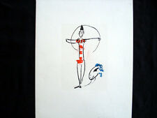 Vintage Lithograph, Invitation by Marc Chagall, Paris, 1957 INV990