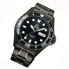 ORIENT Ray II Scuba Diver Deep BLACK Herrenuhr Taucheruhr Gun color FAA02003B9