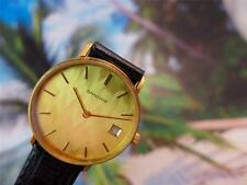 Beautiful Classic Sandoz Gold Plated Wave Design Dial  Mens/Ladies Manual 35mm