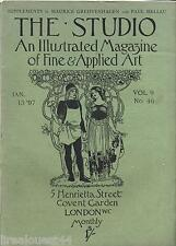 The studio an illustrated magazine of fine & applied art vol.9 n°46 1897