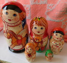 Superb Quality Russian Nesting Doll 5 Pcs Large 5.5 *