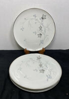 "Eschenbach Baronet China ""Silver Arbor"" Dinner Plates 10 1/4""-Bavaria (set of 4)"