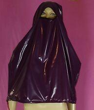 Regen Burka Niqap Maske purple PVC Neu Diargh