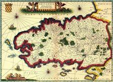 Reproduction carte ancienne - Duché de Bretagne XVIIè