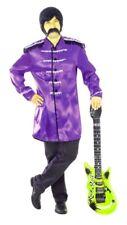 Men's 60's Beatles Sgt Pepper Style Purple Jacket Great Fancy Dress New & Sealed