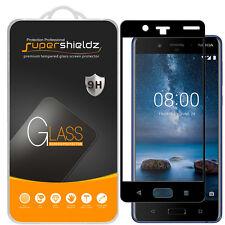 Supershieldz Nokia 8 Full Cover Tempered Glass Screen Protector (Black)