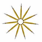 10x Dental Trimming Finishing Gold Burs Carbide Burs 7901/7803/7104/7404/7205
