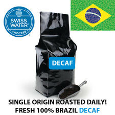 2 5 10 LB BRAZIL DECAF SWISS WATER PROCESS ROASTED COFFEE WHOLE BEAN, GROUND SWP