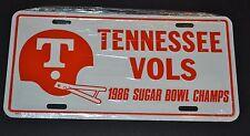 Vintage TENNESSEE VOLS 1986 Sugar Bowl Champs Metal License Plate Auto Tag NOS