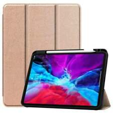 For iPad Pro 12.9 2020 4th Gen Case Smart Flip Leather Stand Cover Pencil Holder