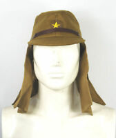 WWII WW2 JAPANESE ARMY SOLDIER FIELD WOOL CAP HAT WITH HAVELOCK NECK FLAP L