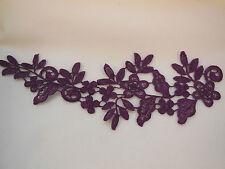 Una Viola Da Sposa Pizzo Floreale Applique / matrimonio motivo decorativo in pizzo per sale.sold per pezzo