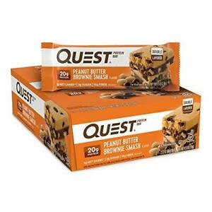 Quest Nutrition Peanut Butter Brownie Smash Protein Bar (12 Count)