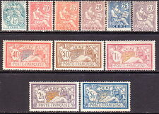 1902-06 FRENCH CHINA Yv 23-33 compl.set MH